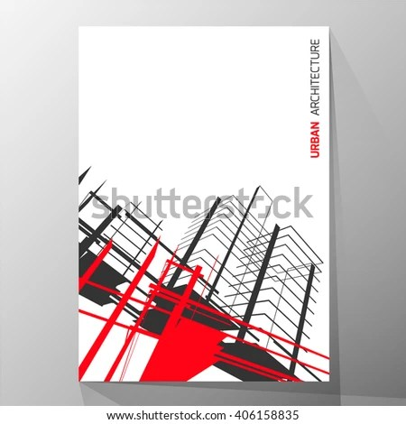 Abstract Architecture Background Layout Brochure Template Stock