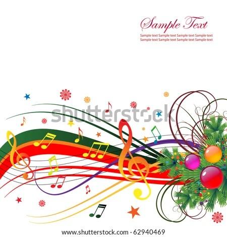 Abstract Background Holiday Christmas Music Christmas Stock Vector