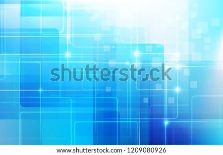 Abstract Blue Background Basic Geometry Shape Stock Vector (Royalty