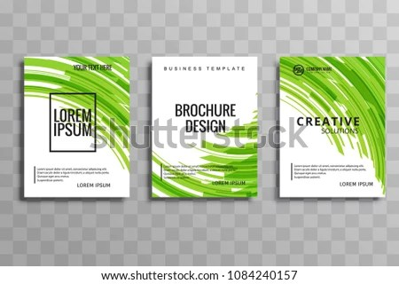 Abstract Blue Business Brochure Wave Template Stock Vector (Royalty