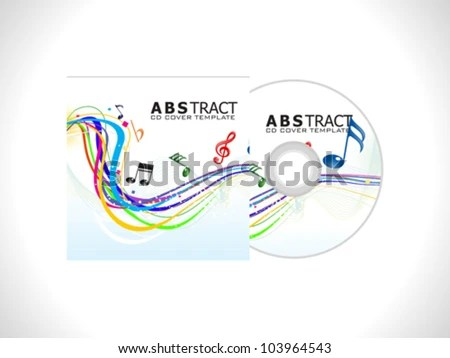 Abstract Cd Cover Template Vector Illustration Stock Vector (Royalty