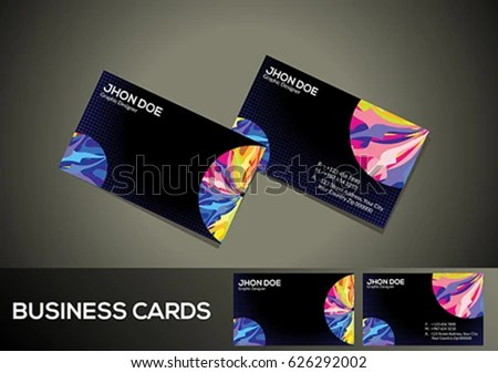 Abstract Colorful Digital Business Card Vector Stock Vector (Royalty