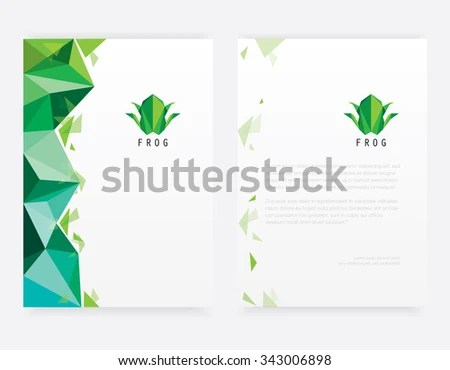 Abstract Contemporary Letterhead Template Mockup Set Stock Vector