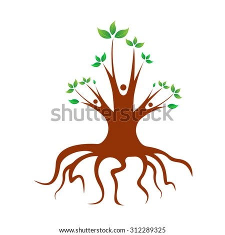 Abstract Family Tree Design Isolated On Stock Vector (Royalty Free