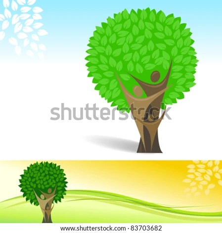 Abstract Family Tree Vector Background Stock Vector (Royalty Free