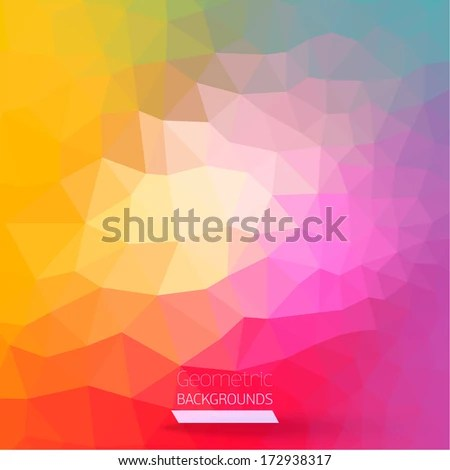 Abstract Geometric Colorful Background Vector Illustration Graphic