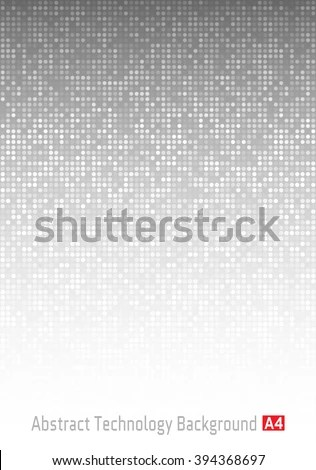 Abstract Gray Technology Background A 4 Format Stock Vector (Royalty