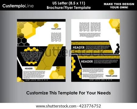 Abstract Hexagonal Brochure Flyer Design Vector Stock Vector