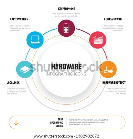 Abstract Infographics Hardware Template Local Disk Stock Vector