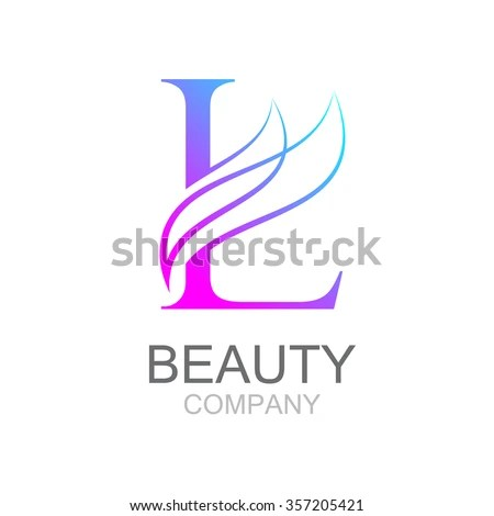 Abstract Letter L Logo Design Template Stock Vector (Royalty Free