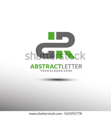 Abstract Letter Logo Template Initial DR Stock Vector (Royalty Free