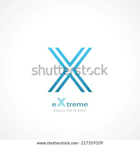 Abstract Symbol Letter X Template Logo Stock Vector (Royalty Free