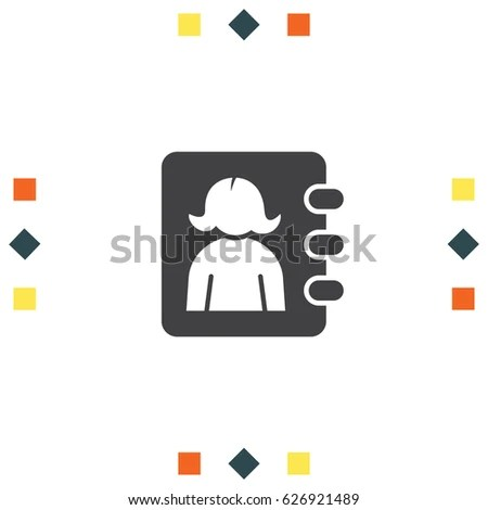 Address Book Woman Avatar Contacts Phonebook Stock Vector (Royalty