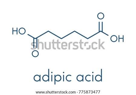 Adipic Acid Nylon Building Block Molecule Stock Vector (Royalty Free