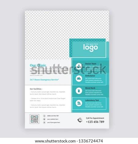 Agency Business Flyer Design Template Flyer Stock Vector (Royalty