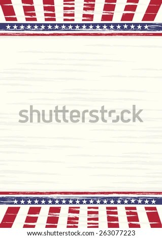 American Old Style Illustration A 4 Sheet Stock Vector (Royalty Free