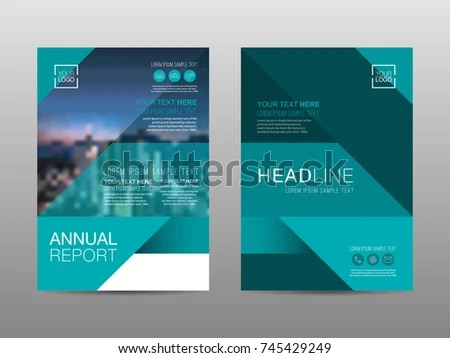 Annual Report Brochure Layout Design Template Stock Vector (Royalty