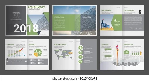 Annual Report Company Profile Advertising Agency Stock Vector