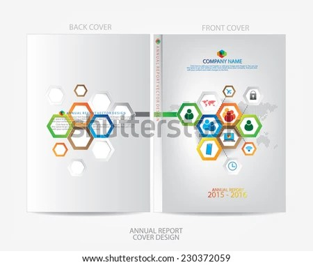 Annual Report Cover Design Stock Vector (Royalty Free) 230372059
