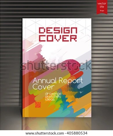 Annual Report Cover Cover Design Cover Stock Vector (Royalty Free