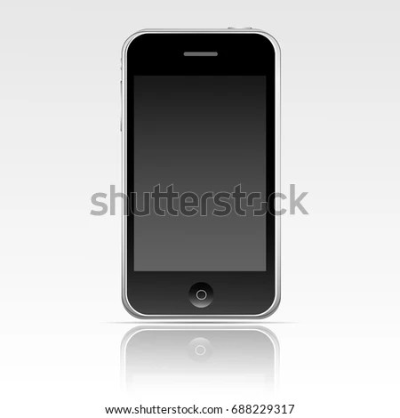 Apple Iphone 3 Gs Black Mobile Template Stock Vector (Royalty Free