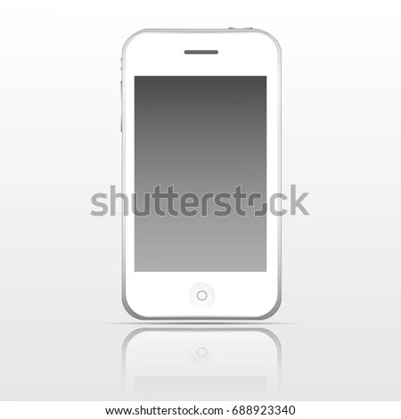 Apple Iphone White Mobile Template 3 Gs Stock Vector (Royalty Free