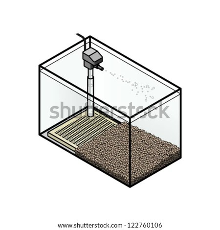 Aquarium Filter Undergravel Filter Power Head Stock Vector (Royalty