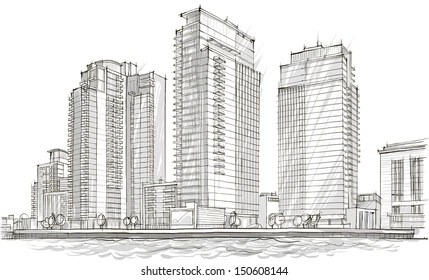 building drawing Images, Stock Photos  Vectors Shutterstock