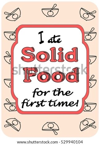 Ate Solid Food First Time Baby Stock Vector (Royalty Free) 529940104