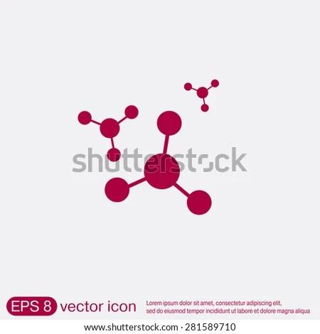 Atom Molecule Symbol Physics Chemistry Symbol Stock Vector (Royalty - molecule vs atom
