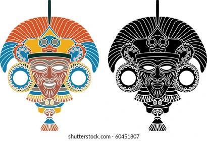 Aztec Mask Images Stock Photos Vectors Shutterstock