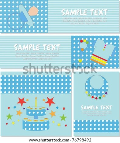 Baby Banners Card Set Stock Vector (Royalty Free) 76798492