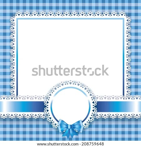 Baby Boy Card Blue Background Stock Vector (Royalty Free) 208759648