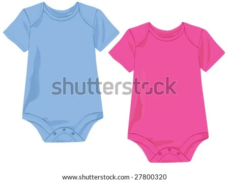 Baby Onesie Template Pink Blue Stock Vector (Royalty Free) 27800320
