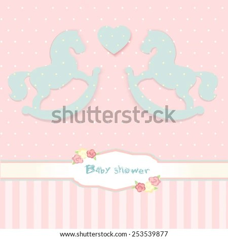 Baby Shower Congratulation Card Shabby Chic Stock Vector (Royalty