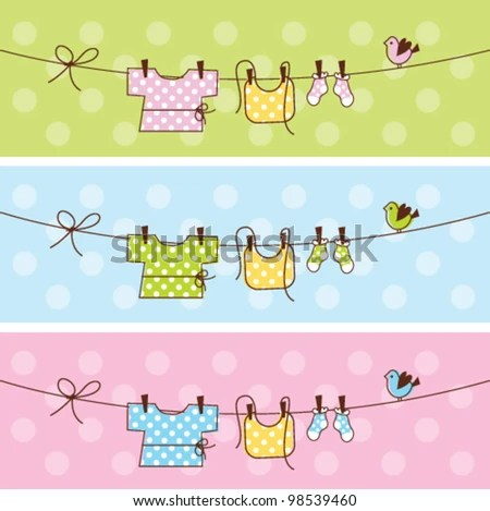 Baby Web Banners Stock Vector (Royalty Free) 98539460 - Shutterstock