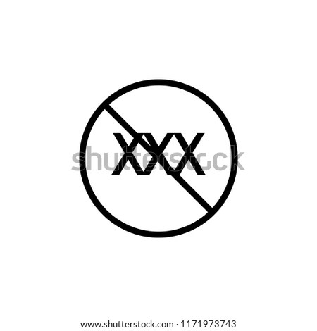 Ban Porn Sites Icon Element Prohibition Stock Vector (Royalty Free