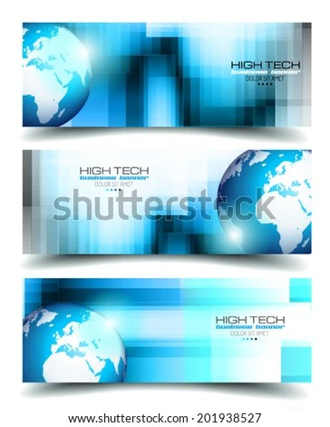 Banner Backgrounds Business Card Corporate Covers Stock Vector