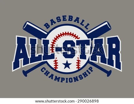 Baseball Sport Badge Logo Design Template Stock Vector (Royalty Free
