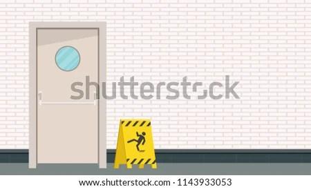 Be Careful Label Door Vector Free Stock Vector (Royalty Free