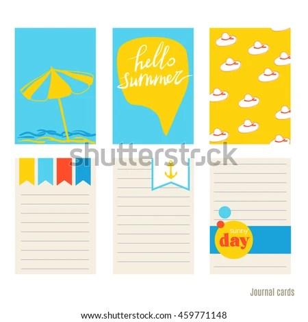 Beach Umbrella Flip Flops Panama Vector Stock Vector (Royalty Free