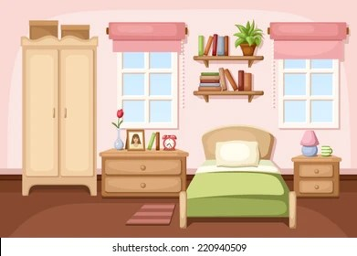 Bedroom Interior Vector Ilration