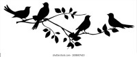 Bird Branch Silhouette Images, Stock Photos & Vectors ...