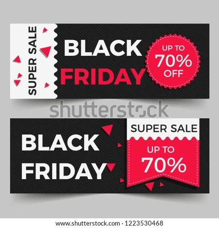 Black Friday Sales Banner Templates Stock Vector (Royalty Free