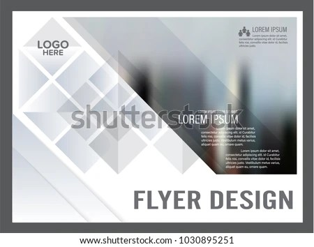 Black White Flyer Design Template Annual Stock Vector (Royalty Free