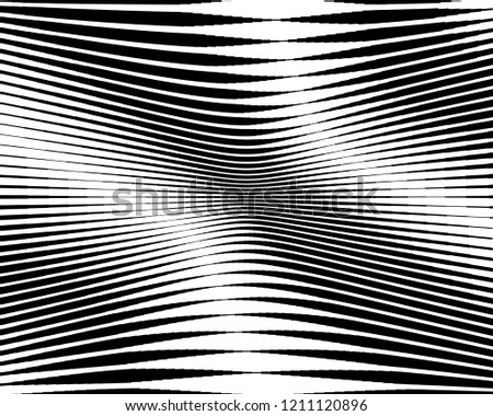 Black White Line Halftone Pattern Gradient Stock Vector (Royalty