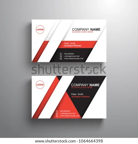 Black White Red Design Business Card Stock Vector (Royalty Free