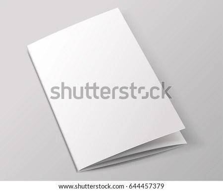 Blank Brochure Template Vector Illustration Stock Vector (Royalty