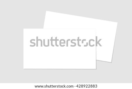 Blank Business Card Shablon Your Design Stock Vector (Royalty Free
