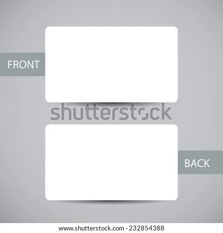 Blank Business Card Template Round Corners Stock Vector (Royalty